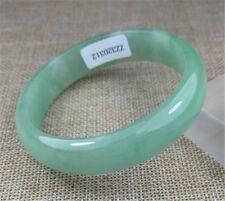 57mm Certified 100% Natural Green Jadeite Jade Bracelets