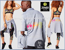 Zumba Zmoji Crazy Happy Flannel Button Down Shirt Denim Daze Convention RARE - L