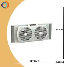 Comfort Zone 9 in. Twin Window Fan with Manually Reversible Airflow Control
