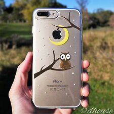 MADE IN JAPAN Soft Clear TPU Case Cute Owl for iPhone 7 Plus