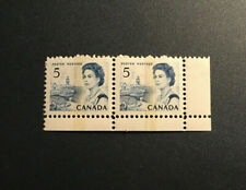 Stamps Canada Sc458pi 5c blue Centennial corner Pair. See description