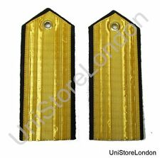 Epaulettes Plain Naval Gold Flat shoulder board button hole Laces R1459