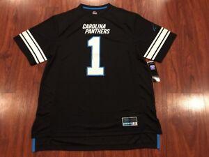 Majestic Men's Cam Newton Carolina Panthers Black Hashmark Jersey XL NFL