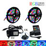 5M 10M 15M 2835 RGB led Strip Light With Music Remote+DC 12v Adapter UK EU US