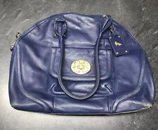 Emma Fox Leather Navy Blue Handbag Purse Satchel
