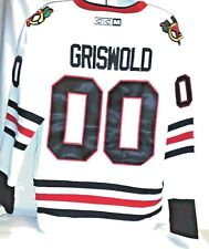 Griswold X-mas vacation Chicago Black Hawks CCM White 52 XL Men's Jersey