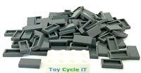 LEGO 100 x Dark Grey 1 x 2 Flat Tile Part No: 3069 - NEW - City Star Wars Movie
