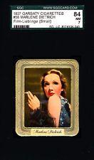 Marlene Dietrich -1937 Garbaty Film Lieblinge Card # 58; Passion Cig; SGC 7 (NM)