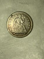 1855 Seated Liberty Silver Dime United States Coin
