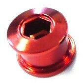 Set of Single Speed Track Fixie Fixy Chainring Bolts (5) Stud Anodized RED