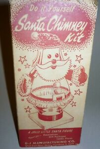 Rare 1950's Mid Century Do It Yourself Santa Chimney Kit Complete NOS Christmas