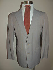 Vintage Mens Chaps Med Brown Mini Check Wool Blend 2 Piece Suit Size 38R