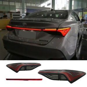 For Toyota Avalon 2019-2021 All LED Tail Lights Assembly Black Color Rear Lamps
