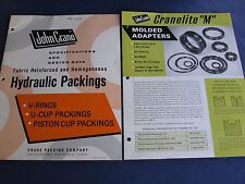 John Crane Packing Co. Asbestos Catalog plus 2 info sheets 1960's