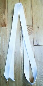 White BELT for Judo - Martial Arts  length 88 inches x 1.5inches Light Weight