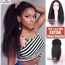 "10"" Pre Plucked 360 Lace Frontal Wig Italian Yaki Brazilian Remy Human Hair Wigs"