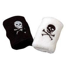 12 Pirate Skull & Bones Wrist Bands Kid Party Goody Loot Bag Filler Favor Supply