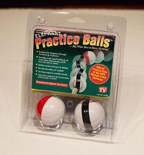 NEW ELEPHANT PRACTICE BALLS - POOL & BILLIARD TRAINING AID -  2 BALL SET