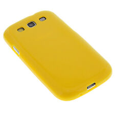 sillicona BOLSO FUNDA amarillo para Samsung Galaxy S3 i9300