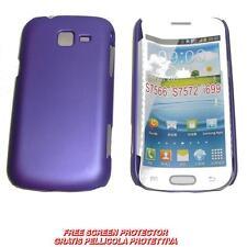 Pellicola+custodia BACKCOVER VIOLA per Samsung Galaxy Trend II Duos S7572 (A1)