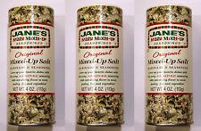 3x Jane's Krazy Mixed-up Seasonings, Original Mixed-up Salt Marinade & Seasoning