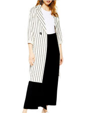 TOPSHOP Stripe Duster Linen Jacket Size Medium NWT