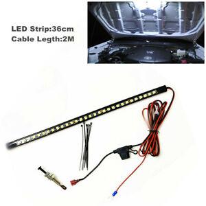 LED Car SUV Repair Truck Under Hood Mount Engine Bay Light Strip Switch Control