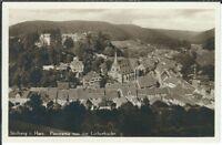 Ansichtskarte Stolberg im Harz - Panorama von der Lutherbuche - Verlag Wollstein
