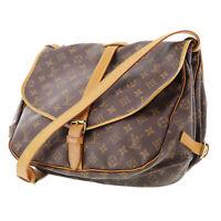 LOUIS VUITTON Monogram Saumur 35 Shoulder Bag M42254 France Authentic #AB959 Y