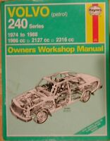 HAYNES VOLVO 240 1974 TO 88  1966  2127   2316 cc  MODELS    Manual  270