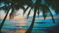 """Goldmilky cross stitch kit  '' Palm  beach""""19x11 inch (a30)"""