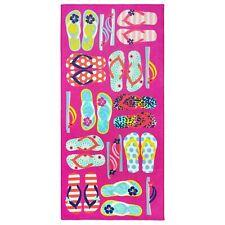 Kaufman -Beach Towel Pink Flip Flop and Sandals Pool Beach 28 X 60 (101-Fli)