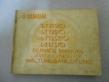Werkstatthandbuch Yamaha DT 100 125 125E 175 C Service manual Manuel d`atellier
