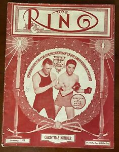 January 1925 Christmas Ring Magazine Boxing Tommy Gibbons Sammy Mandell Cover