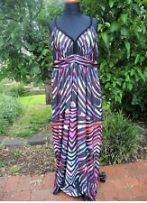 City Chic Striped Black Strap Maxi Dress Size XS (14/16) BNWT Summer Beach
