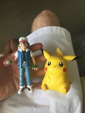 1998 NINTENDO PIKACHU POKEMON SOUND ACTIVATED FIGURE BY TOMY With Ash Ketchum