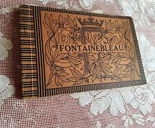 Vintage 1922 Fontainebleau Versailles Sephia Picture Book by A. Bourdier