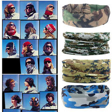 MultiFunction Camo Tube Scarf Headbands Face Mask Warmer Bandana Headwear Snood,