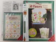Donna Dewberry Easy One Stroke Fifty Flowers Kit Book + DVD + Double Ended Brush