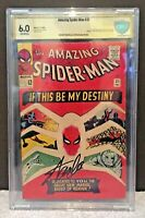 Amazing Spider-man #31 CBCS SS 6.0 Signed Stan Lee (like CGC) Key 1st Gwen Stacy