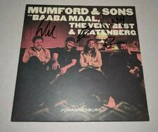 """MUMFORD AND SONS signed autographed """"JOHANNESBURG"""" LP RECORD BECKETT LOA MARCUS"""