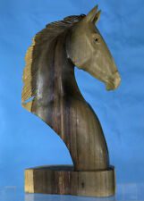 Hand Carved Wooden Horse Head Large - Western Statue Sculpture LIMITED SUPPLIES