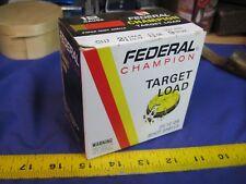 FEDERAL CHAMPION  SHOTGUN SHELL BOX TARGET EMPTY PAPER shot 12 gauge CARTRIDGE