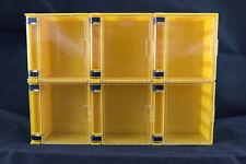 6 X Stackable Mini Display Case Yellow Colour for Lego Minifigures Showcase