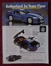 1996 Print Ad Brookfield Collector Guild Model Diecast Car ~ The Viper GTS Coupe
