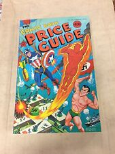 1980 Official Overstreet Comic Book Price Guide #10 Schomburg Marvel  cover