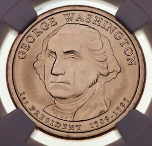 2007 George Washington $1 Missing Edge Lettering Graded by NGC as MS-65 Error