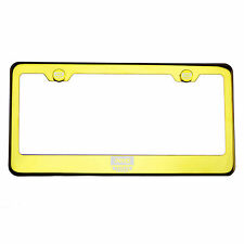 Gold Chrome License Plate Frame T304 Stainless Steel Laser Engraved Jeep Logo