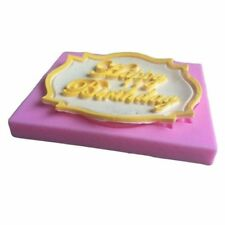 Birthday DIY 3D Fondant Impression Mat Chocolate Baking Mold Cake Mould Tool
