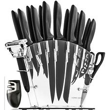 13-Piece Kitchen Cooking Knife Set Razor Sharp Knives Cutlery Blade Steel Pack